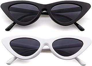 عینک آفتابی FOURCHEN یکپارچهسازی با سیستمعامل باریک باریک چشم گربه چشم بچه گانه قاب پلاستیک