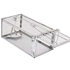 Humane Live Animal Trap - After catching them, you can release them at any time. Product Size: 10.5 x 5.5 x 4.5 inches. If you want to catch a bigger one, please choose the large size. Light Weight Aluminum Structure - Sturdy and Durable, the finest ...