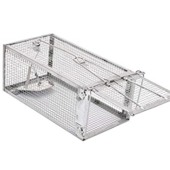 Kensizer Humane Rat Trap Chipmunk Rodent Trap That Work for Indoor and Outdoor Small Animal - Mouse Voles Hamsters Live Cage Catch and Release