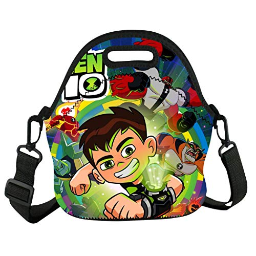 Guakes B-eN 10 He-ro Alien Waterproof Insulated Tote Bags Lunch Boxes for School Office Work Picnic Travel