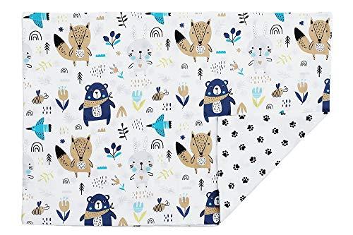 Kissenbezug Kissenhülle 40x60 cm mit Reißverschluss aus 100% Baumwolle, hergestellt in Europa (Bären)