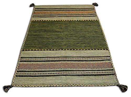 Centesimo Web Shop Tappeto, Cotone, Verde, 60 x 90 cm