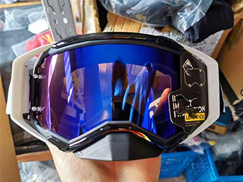 HEDC 2020 Gafas de Motocross Anti-Scratch Motorbike Goggles Bicicleta de montaña Gafas ATV MTB Goggle Dirt Bike Off Road Moto Goggle Motorcycle Casco de Vidrio 21-323 (Color : Ivory)