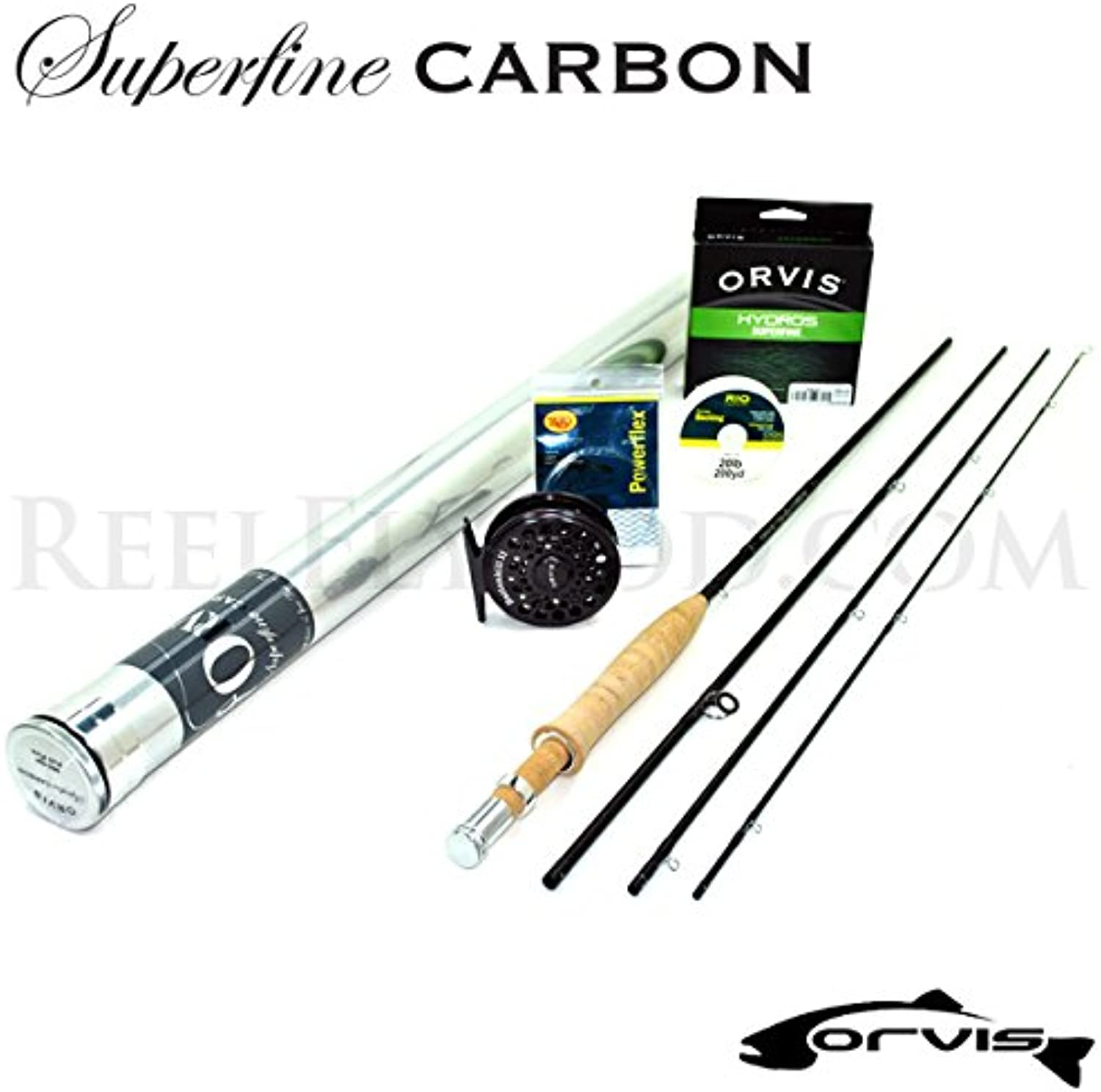Orvis Superfine Carbon 2wt 6'0  Fly Rod Outfit (6'0 , 2wt, 3pc)