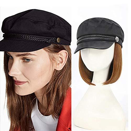 Caps Nylon Perruque, Brun Clair Perruque Caps Pour Les Femmes, Bob Perruques Hat Avec Des Cheveux Attatchment Chapellerie De Femme
