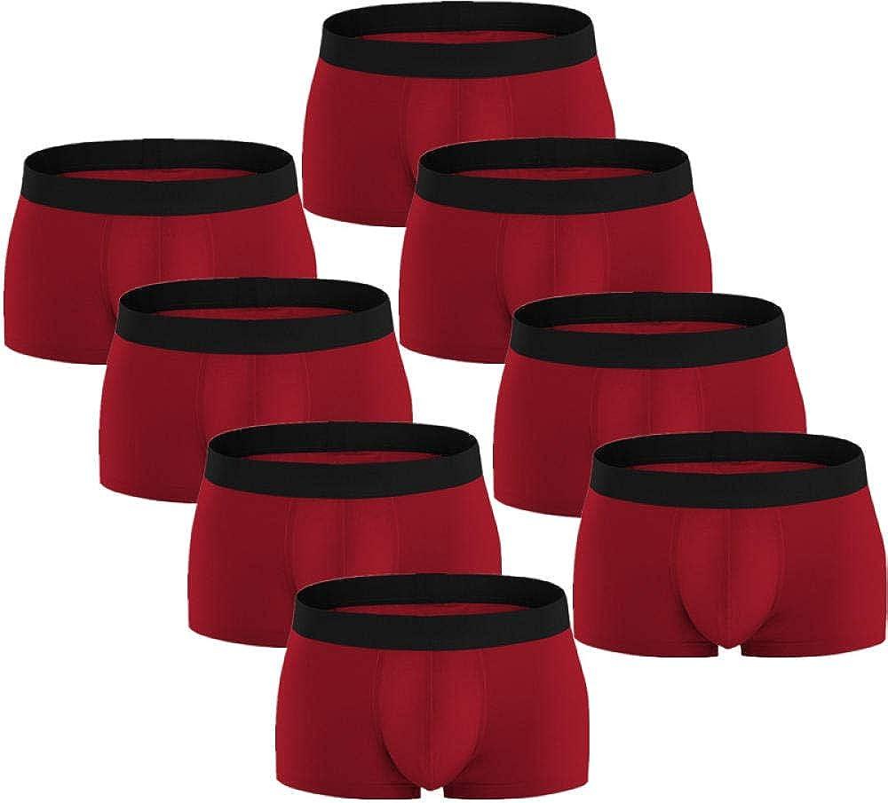 Boxer Briefs For Men 8Pcs/Lot Mens Boxer Underwear Shorts Knicker Thermal Panties Smart Casual Man Underpants Cotton U Convex Set Pants-G_Xl