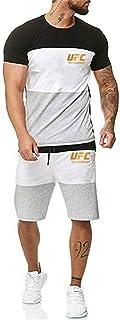 تي شيرت رجالي بدلة رياضية للبالغين، MMA Fitness UFC طباعة قمصان وتي شيرتات ، هدية لمحبي UFC (اللون : أسود، المقاس: المقاس-XL)