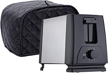 Oven Covers Toaster and Mixer Cover Bread Toaster Dust Cover Suit for Bread Toaster (2 Slice Black)