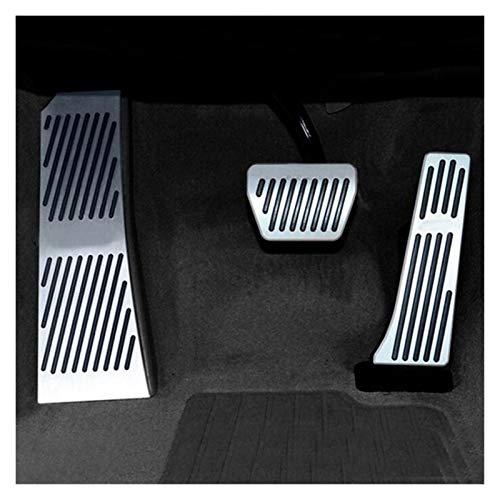 MeiZi Fit for BMW 5 6 7 Series X3 X4 F25 F26 Z4 E85 F07 F08 F10 F11 F18 F06 F12 F13 F01 F02 F03 Gas-Kraftstoff-Brems Fußraste Pedalplatte Pad (Color Name : 3pcs)