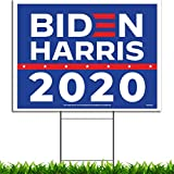 VIBE INK Joe Biden Kamala Harris 2020 Political Campaign Yard Sign Large 24x18 with Included Lawn H-Stake - Made in America - Waterproof - Front & Back