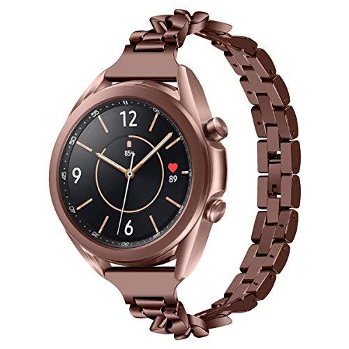 SPGUARD Armband Kompatibel mit Samsung Galaxy Watch 3 Armband 41mm, 20mm Frauen Edelstahl Metall Ersatzarmband für Samsung Galaxy Watch 3 41mm(Mystic Bronze)