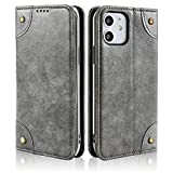KelaSip Compatible with iPhone 12 Mini Wallet Case Folio Flip Magnetic Leather Cover with Kickstand and Credit Slots