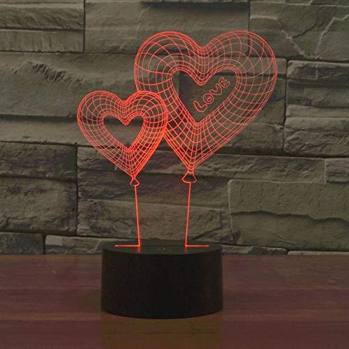 Amor globo acrílico multicolor lámpara de mesa que cambia de color 3D lámpara de mesa LED luz de noche decoración regalo decoración regalo