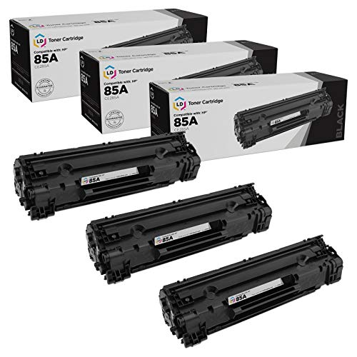 LD Compatible Toner Cartridge Replacement for HP 85A CE285A (Black, 3-Pack)