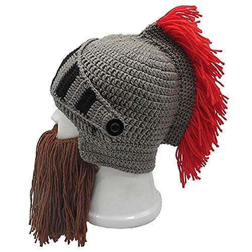 Jay Sparta — Touca de malha Roma da Idade Média, para esportes ao ar livre, chapéu grosso à prova de vento, chapéu criativo para barba, tamanho universal, carnaval, Halloween, festa de aniversário, cosplay