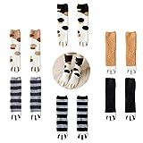 PINKE Calcetines Casuales Para Mujer Cute Meow Cat Paws Print Calcetería Calcetines De Invierno Para Clima Frío 6 Pares