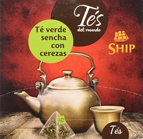 Ship con 15 Pirámides TE VERDE SENCHA con CEREZAS TES del MUNDO