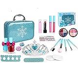 HINOR 21 piezas lavables de maquillaje para niños, para niñas, Princesa Little Girls Starter Kit...