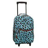 Best Backpacks For Middle Schoolers - Rockland 17 Inch Rolling Backpack, Blue Leopard, One Review