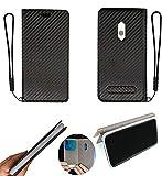 Oujietong FY Flip Coque pour Qilive Smartphone Q1-19 143068 5 Pouces Coque Phone Case Cover Etui Housse Black