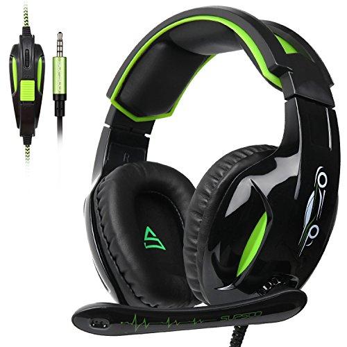 SUPSOO G813 - Auriculares de diadema para videojuegos (3,5 mm, control de volumen de micrófono, para PC/XboxOne/PS4)