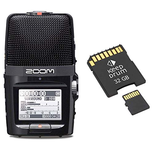 Zoom H2n Handy Audio-Recorder + Speicherkarte 32GB