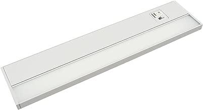 JULLISON 24 Inch LED Under Cabinet Light, Under Counter Light, Plug-in or Hardwired, 120VAC, 14W, CRI90, 1050 Lumens, 3 Colors Changing, 2700K-3000K-4000K, Linkable, ETL Listed, Damp Location - White