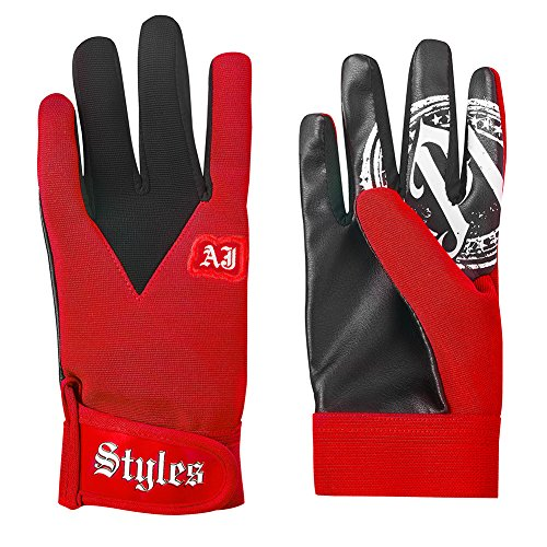 WWE Authentic Wear AJ Styles Red Replica Gloves