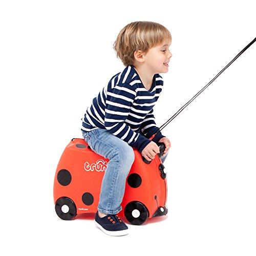Trunki Trolley Kinderkoffer, Handgepäck für Kinder: Harley Marienkäfer (Rot) - 7