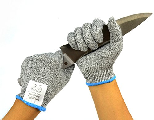 UncleHu Cut Resistant Gloves, Medium
