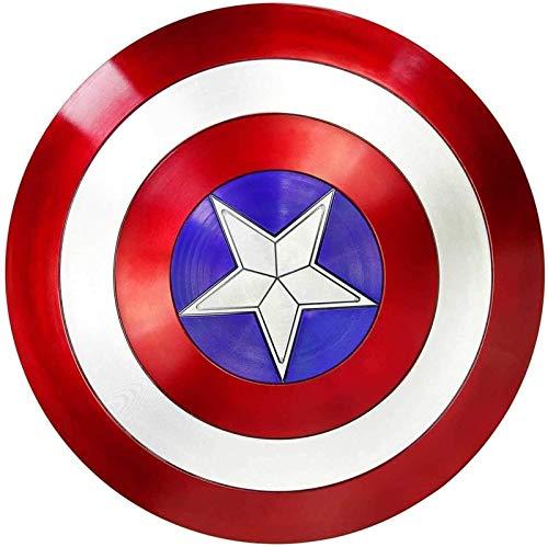 MMCC Capitán América Disfraz Shield Marvel Avengers 57cm Captain America Shield Adults - Un tamaño de Disfraces Accesorio