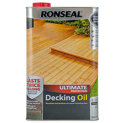 Ronseal RSLUDON5L 5L Ultimate Protection Decking Oil - Natural