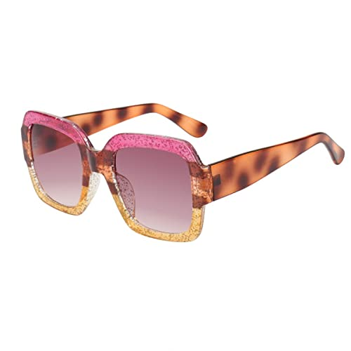 ef6ee2dc82 ROYAL GIRL Oversized Square Sunglasses Women Inspired Multi Tinted Frame  Fashion Modern Shades