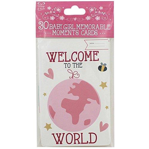 Lot de 30 cartes Moments Inoubliables pour bébé fille