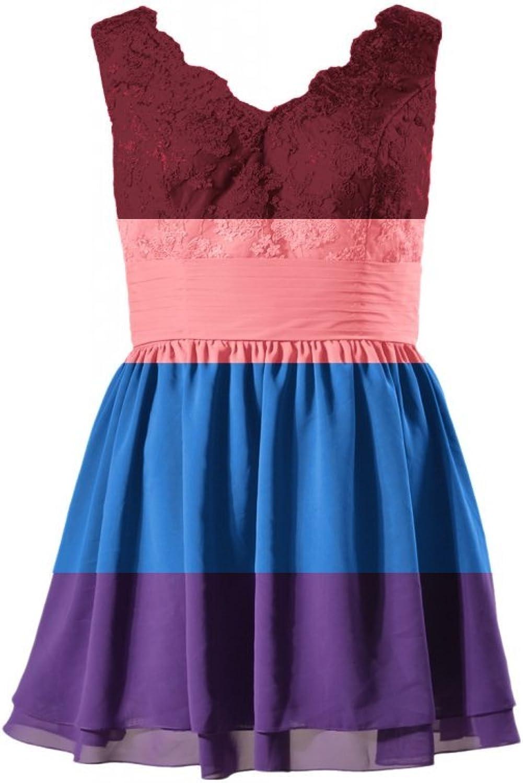 DaisyFormals® Short Plus Size Prom Dress Lace VNeck Party Dress(BM29035P)