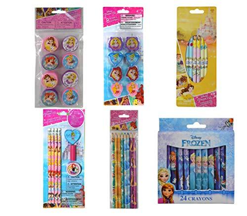 Disney Princess Set. 10 Pencils, 24 Crayons,8 Color Pencils, 7 Erasers and 9 Sharpeners.