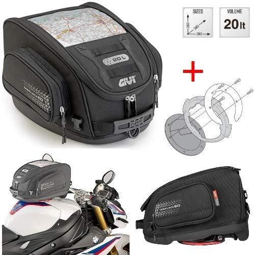 Voor Yamaha FJ 1200 ABS 1991 91 sporttas GIVI UT809 + BF05 flens TANKLOCKED 20LT bagagetas voor motorfiets waterproof