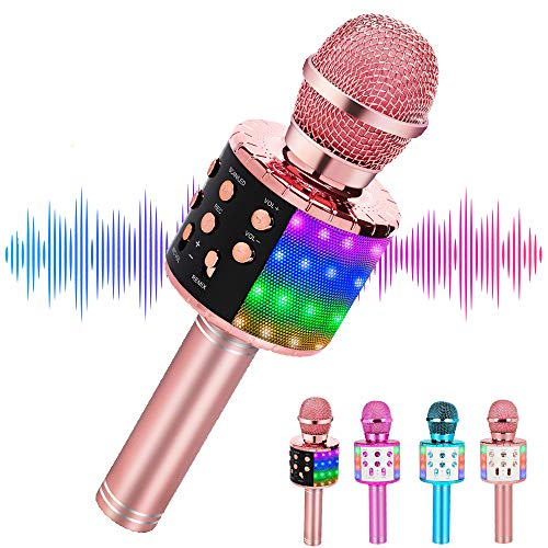 Niskite Gifts for 3 4 5 Year Old Girls,Bluetooth Wireless Karaoke Microphone for Kids,Popular Toys for Boy Girl Age 6 7 8 9 10