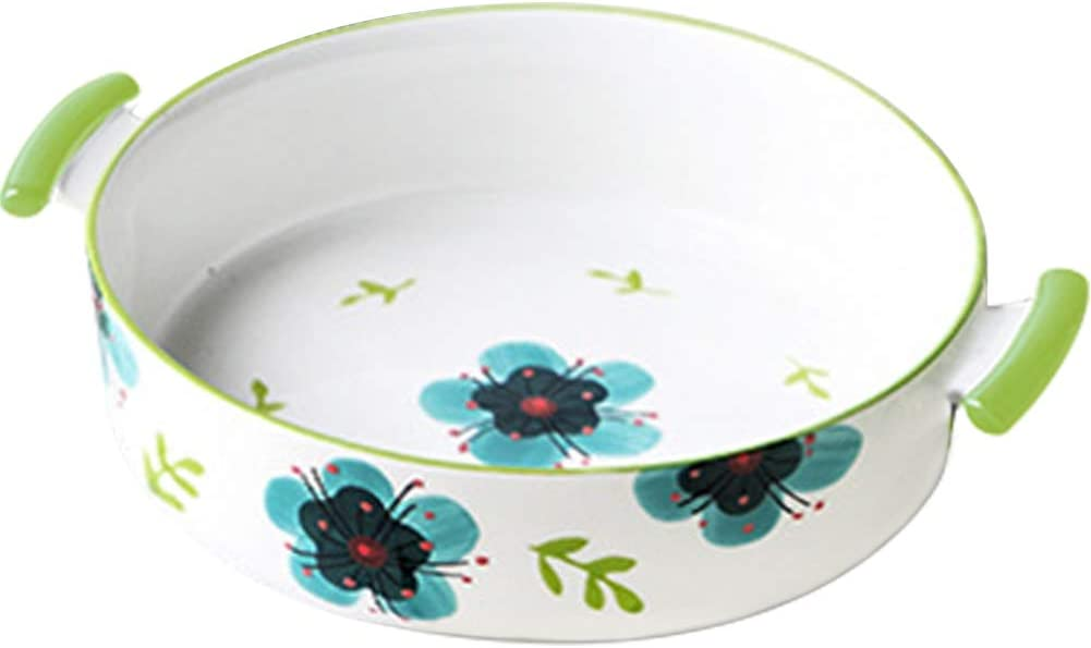 Kelendle Max 69% Challenge the lowest price of Japan ☆ OFF Ceramic Souffle Dishes with Porcelain Handle Ram Double