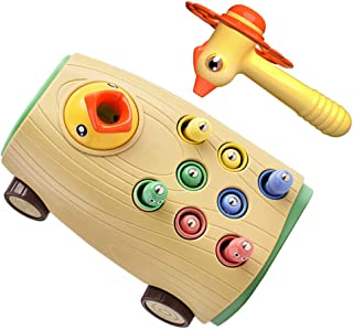Generic Magnetic Toddler Games Toy Woodpecker Catching and Feeding Game Hammer Pounding Toy Fine Motor Skills Toys with Mu...