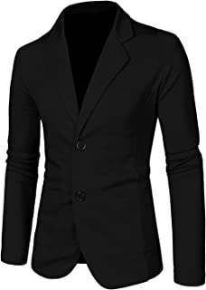 Uxcell Men's Casual Sports Coat Slim Fit Lightweight Button Cardigan Knit Blazer with Pockets