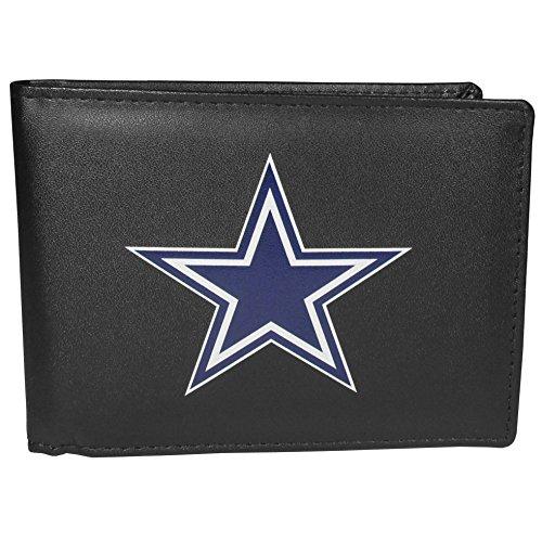 Siskiyou NFL Herren Bi-fold Geldbörse Large Logo, Herren, Dallas Cowboys Geldbörse mit großem Logo, FBIL055, Schwarz , Einheitsgröße
