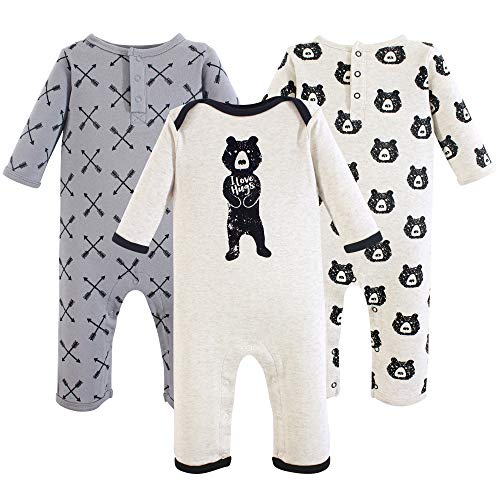 Yoga Sprout baby girls Cotton Coveralls Romper, Bear Hugs, 6-9 Months US