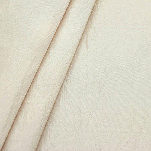 Dekotaft Crinkle Optik Verdunkelungsstoff Stoff Meterware Elfenbein