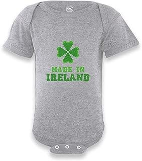 Made in Ireland Short Sleeve Boys-Girls Cotton Baby Bodysuit One Piece