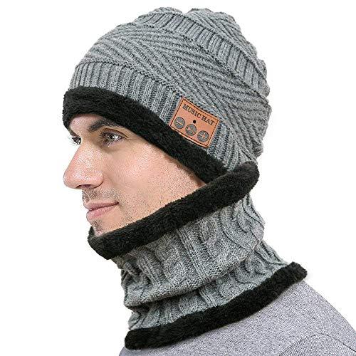 Bluetooth muts, warme muziek, hoofdbedekking, draadloos, muts en sjaal, wasbaar, winter, cap ingebouwde Berretti-microfoon voor heren, outdoor, sport, skaten