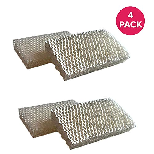 Crucial Air Filter Replacement Parts Compatible with Honeywell Part # AC-813, D13-C, D-13 - Fits Honeywell HCM-525 Humidifier Wick Filters - Simple Easy Use for Home - (4 Pack)