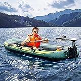 PaNt Kayak Hinchable,2 Airbag 4 Cámara Aire Independiente Grueso Resistente al Desgaste Transporte 3-4 Personas Bote de Pesca Portátil Bomba de Aire Camuflaje Kayak 2 Pares de Paletas Cuerda