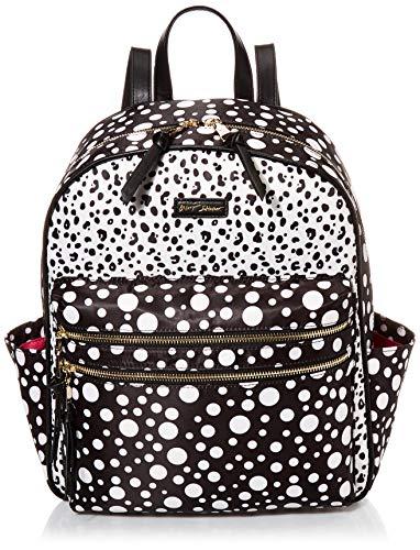 Betsey Johnson Mixed Nylon Backpack, Black/White