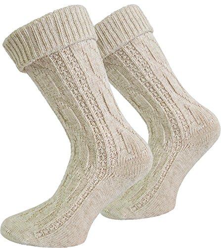 normani Original Trachtensocken Trachten Strümpfe Socken Natur Farbe Beige kurz Größe 39/42